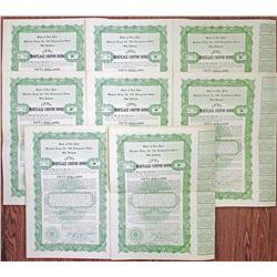 Mohawk Lodge No. 586 Independent Order Odd Fellows Bonds, 1921 Group of 8 I/U Bonds.