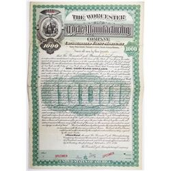Worcester Cycle Manufacturing Co. 1896 Specimen Bond