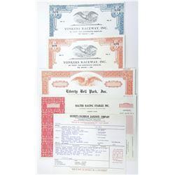 Horse Racing, Track & Breeders, 1964-1986 Bond and Specimen Stock Certificate Group