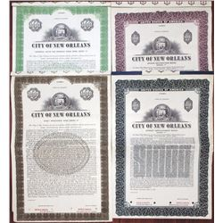 City of New Orleans, 1952 & 1955 Municipal Specimen Bond Quartet