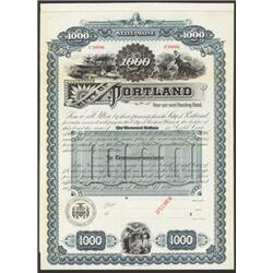 City of Portland, 1896 Specimen Bond.