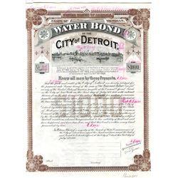Water Bond of the City of Detroit, 1909 Specimen Bond.