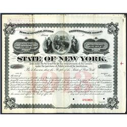 Bureau of Canal Affairs, State of New York. 1895, Specimen Bond.