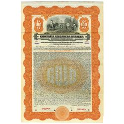 Compania Azucarera Baragua/Baragua Sugar Co., 1922 Specimen Bond