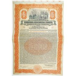 Ermita Sugar Co. 1922 I/U Bond but the Company was Foreclosed.