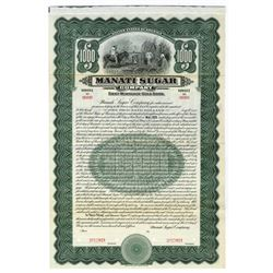 Manati Sugar Co., 1915 Specimen Bond