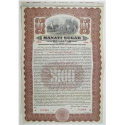 Manati Sugar Co. 1916 Specimen Bond