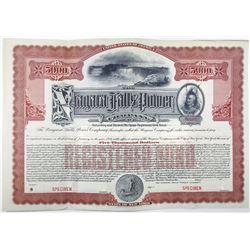 Niagara Falls Power Co. 1909 Specimen Bond