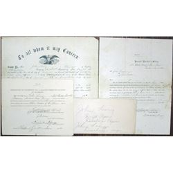 Civil War Draft and Discharge Document Group, 1862 to 1864.