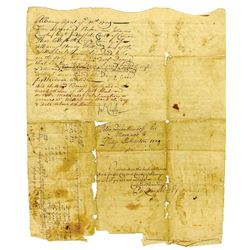 Albany, New York Province,1729 Land Deed/Mortgage Legal Document Mentioning and Signed by Philip Liv