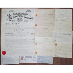 Ohio Ephemeral Lot, ca.1862-1874 with Insurance, Medical, Judicial and Miscellaneous Topics.