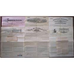 Mid-West and North-Eastern Insurance Policy Assortment ca.1893-1907