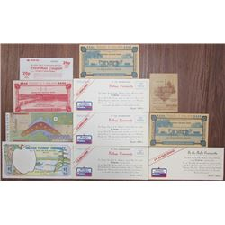 Ephemera Group Lot of Banknotes, Stocks, and Bonds