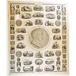Draper, Underwood, Bald & Spencer, ND, ca.1820's Proof Advertising Sample Sheet.