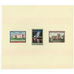 City of Washington Trio of Illustrations on Souvenir Card, Lot of 21, ca.1960-70's