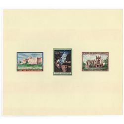 City of Washington Trio of Illustrations on Souvenir Card, Lot of 21, ca.1960-70's