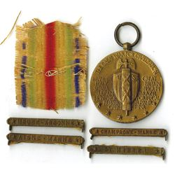 World War I Victory Medal with Battle Clasp Quartet, ca.1919