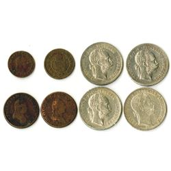 Collection of Austria and Austria-Hungary coins, ca. 1772-1891