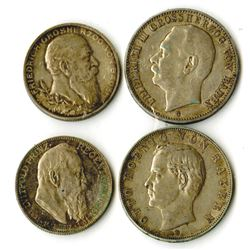 German States Coin Quartet, ca. 1902-1911