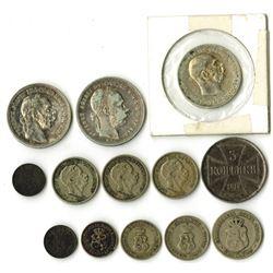 Bulgaria, Austria, Hungary & Luxembourg European Coin Assortment ca.1848-1916.