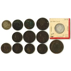 Group of Great Britain and Canada Coins, ca. 1816-1916