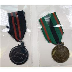 Finnish World War II Military Medals Pair