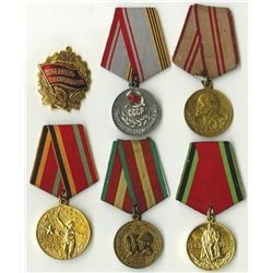 Russian Jubilee Medal & Military Medal, ca.1945-1988 Group of 6