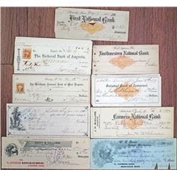 Kentucky, Minnesota, Georgia, Ohio and Other States, Group of 20 Issued and Unissued Checks, Some wi