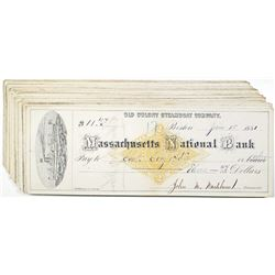 Old Colony Steamboat Co., 1881, Massachusetts National Bank I/C Check Group