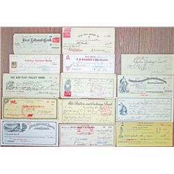 Western Check, Draft and Receipt Assortment, ca.1872 to 1969