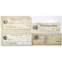 Oklahoma Checks & Drafts , ca.1913 to 1919 Assortment.