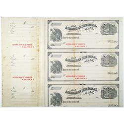 American National Bank 1906 Specimen Uncut Sheet of 3 Checks.