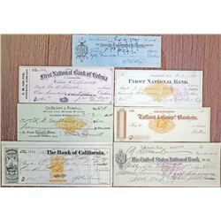 Group of 13 Western United States I/C Checks