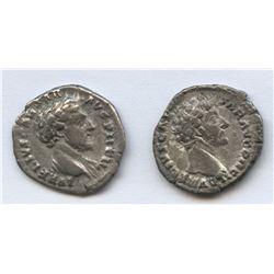 Marcus Aurelius. 161-180 AD. AE, lot of 2 Denarius. XF-AU.