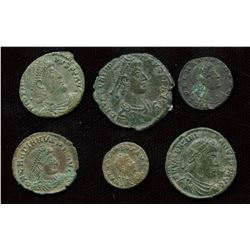 Roman Imperial - 4th Century AE Group. Lot of 6