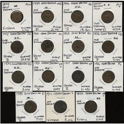 Great Britain - Lot of 15 Farthings
