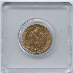 France , 1911 Gold 20 Francs Coin