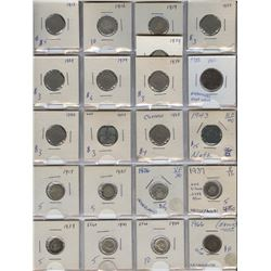 Netherlands - Lot of 21 Coins