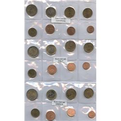 European Euro Coin Collection, Multiple Countries