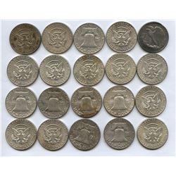 USA 90% Silver Half Dollar Roll of 20 Pcs.