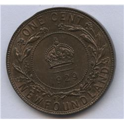 1929 Newfoundland One Cent - Minor Clip