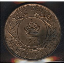 1936 Newfoundland One Cent