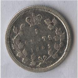 1862 New Brunswick Five Cents