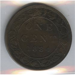 1884 One Cent - Obverse #1