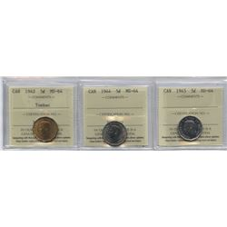 Five Cents ICCS Group - Lot of 3
