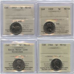 Five Cents ICCS Group - Lot of 4