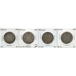 1906 - 1929 Fifty Cents Group - Lot of 4