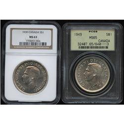 1939 & 1949 Silver Dollar NGC Graded - Lot of 2 Commemoratives