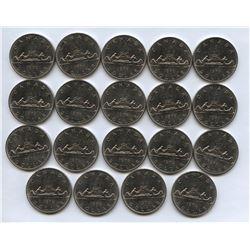 1978 Broken Waterlines Nickel Dollar Lot of 19 Coins