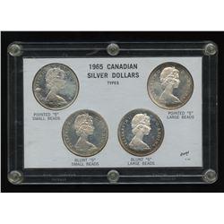 Canada: 1965 Canadian Silver Dollars Types Set, Elizabeth II